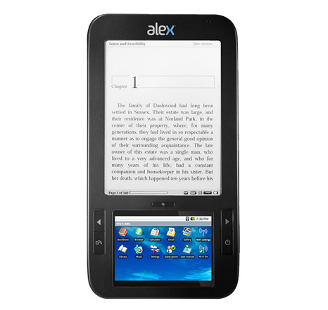 Dual screen eReader